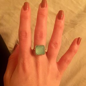Jewelry - Sterling silver aqua ring